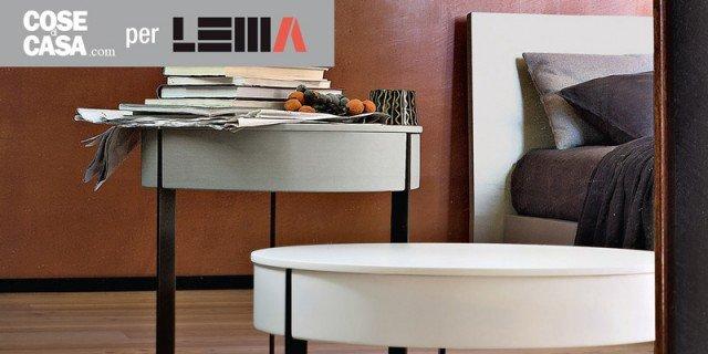 """Arredare la camera: comodini per """"ruolo"""", anche i tavolini"""