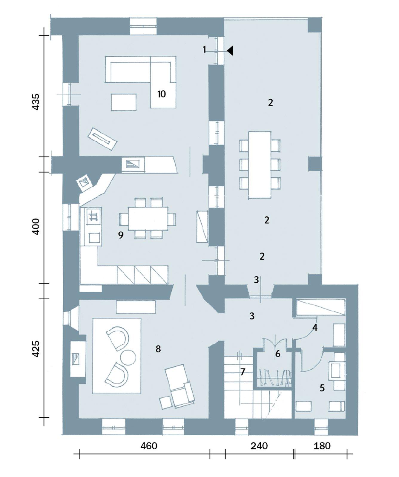 Una casa con ambienti moderni a sfondo rustico cose di casa for Progetto piano terra