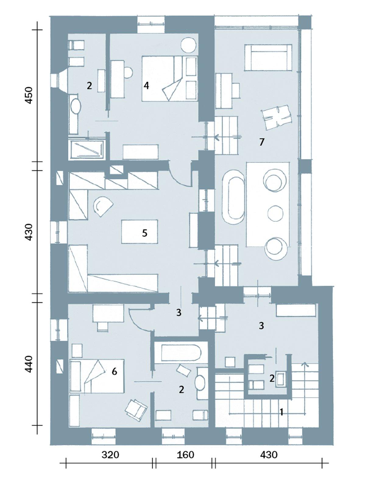 Una casa con ambienti moderni a sfondo rustico cose di casa for 1 5 piani casa piani