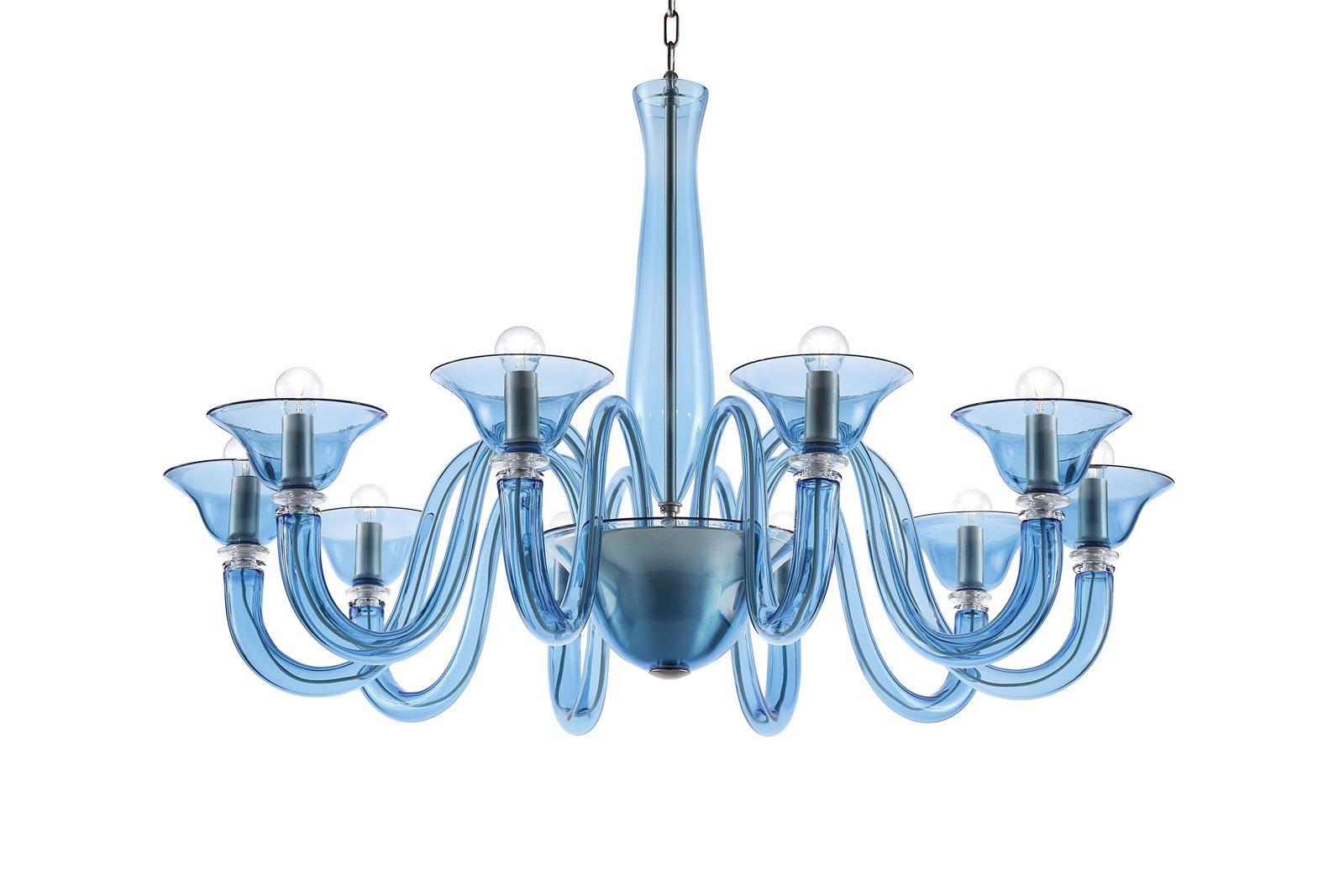 Arredi in vetro design trasparente dalla sospensione al for Murrina lampadari moderni