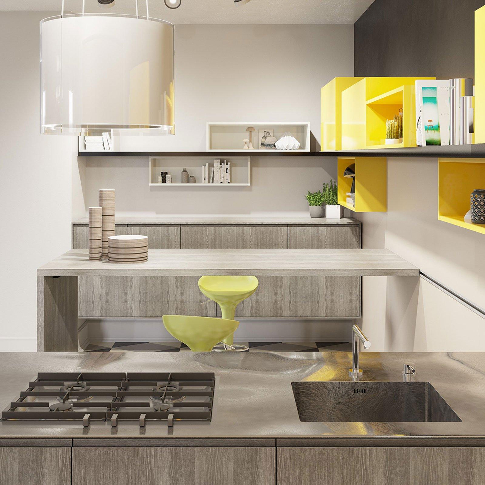 Cucine con cappa decorativa cose di casa - Cucine con cappa centrale ...