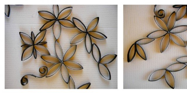 Fiori di carta riciclata per decorare la parete cose di casa - Decorare una parete di casa ...