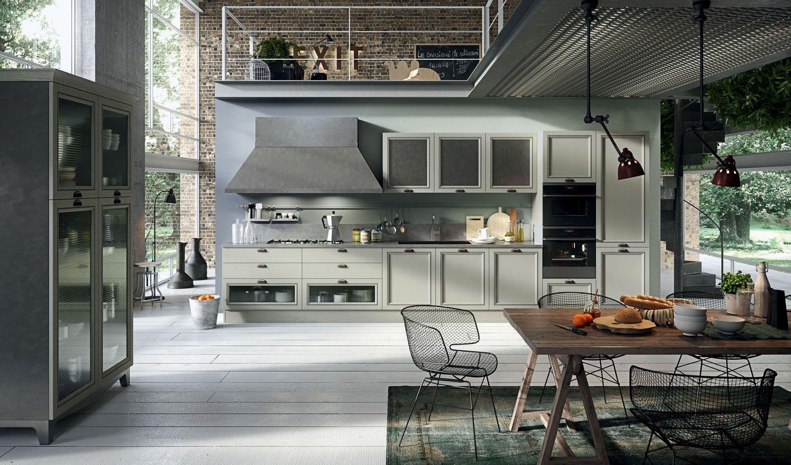 Magistra Di Aran Cucine è Un Modello Vintage Che Accosta Materiali  #5F4C3C 1600 941 Foto Di Cucine Vecchie