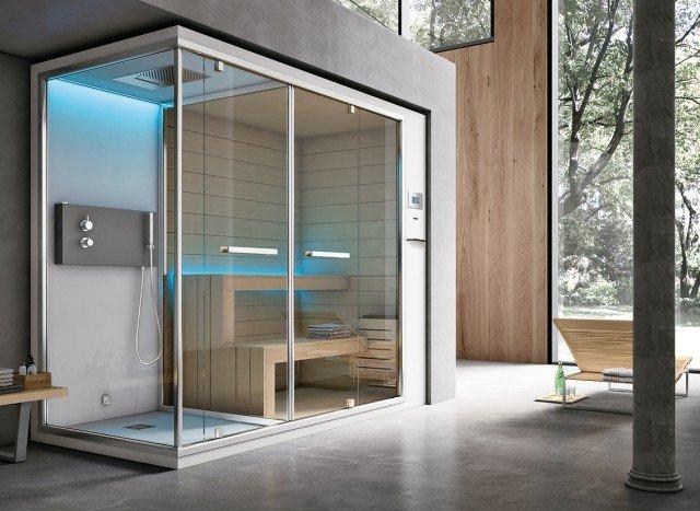 Ethos, combinazione di bagno turco, doccia e sauna