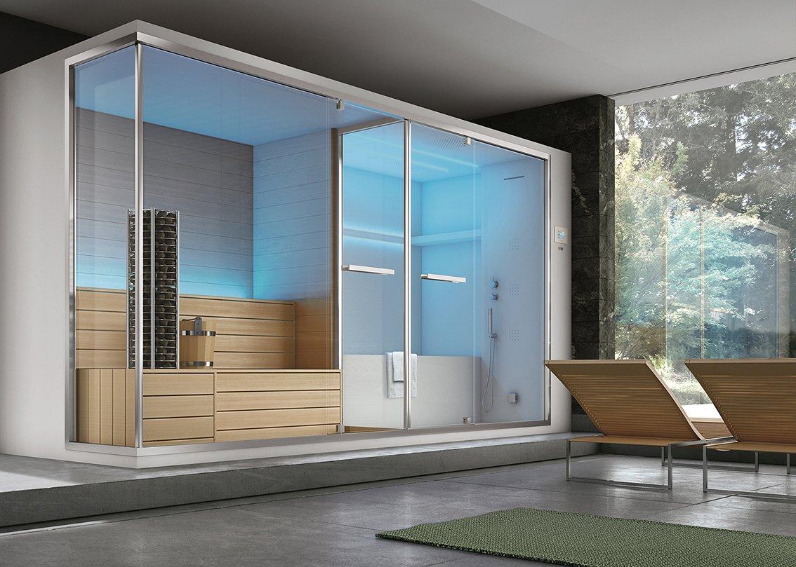Non solo sauna e bagno turco il benessere secondo hafro - Box doccia con sauna e bagno turco ...