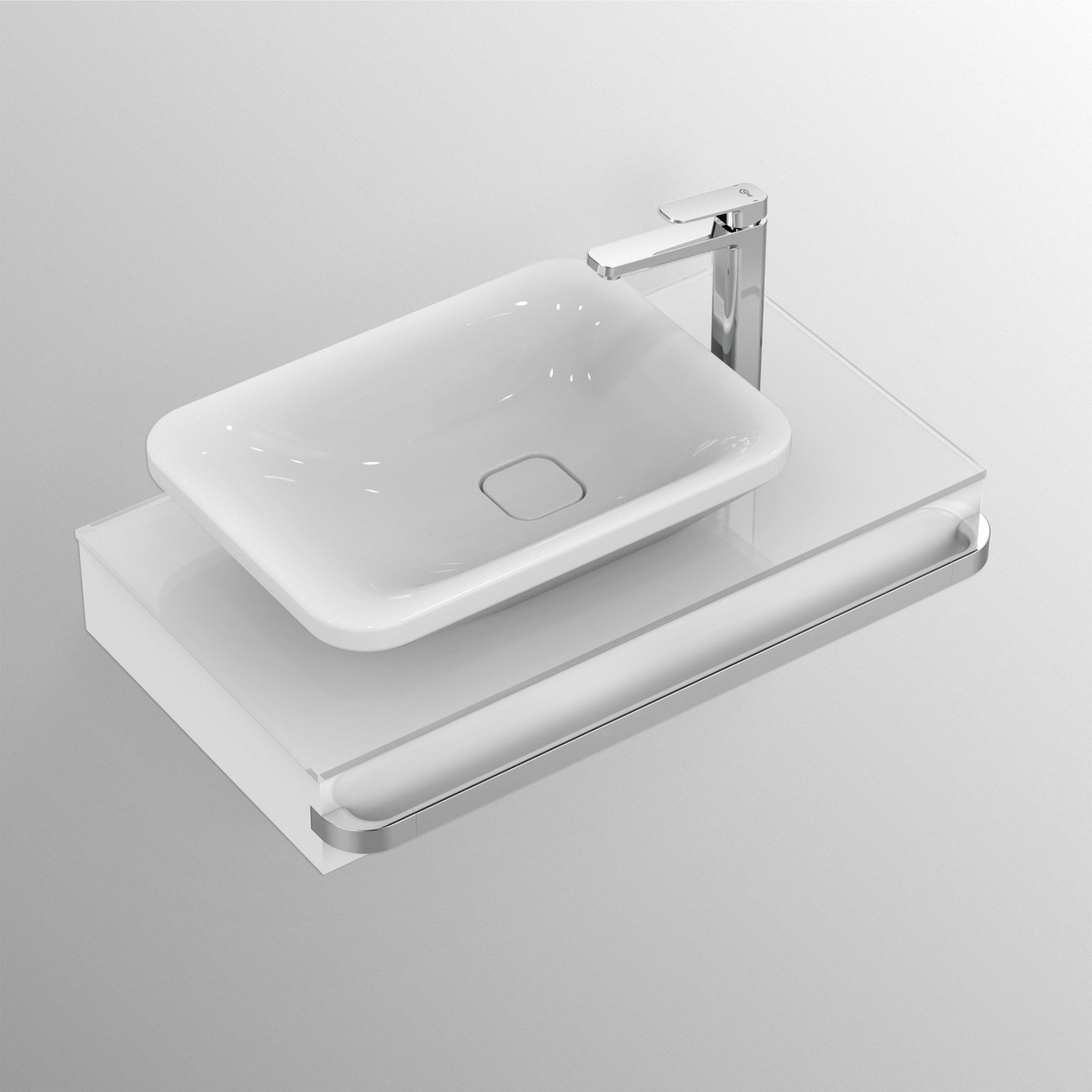 Mensole e piani d 39 appoggio per il lavabo cose di casa for Mensole cubo leroy merlin