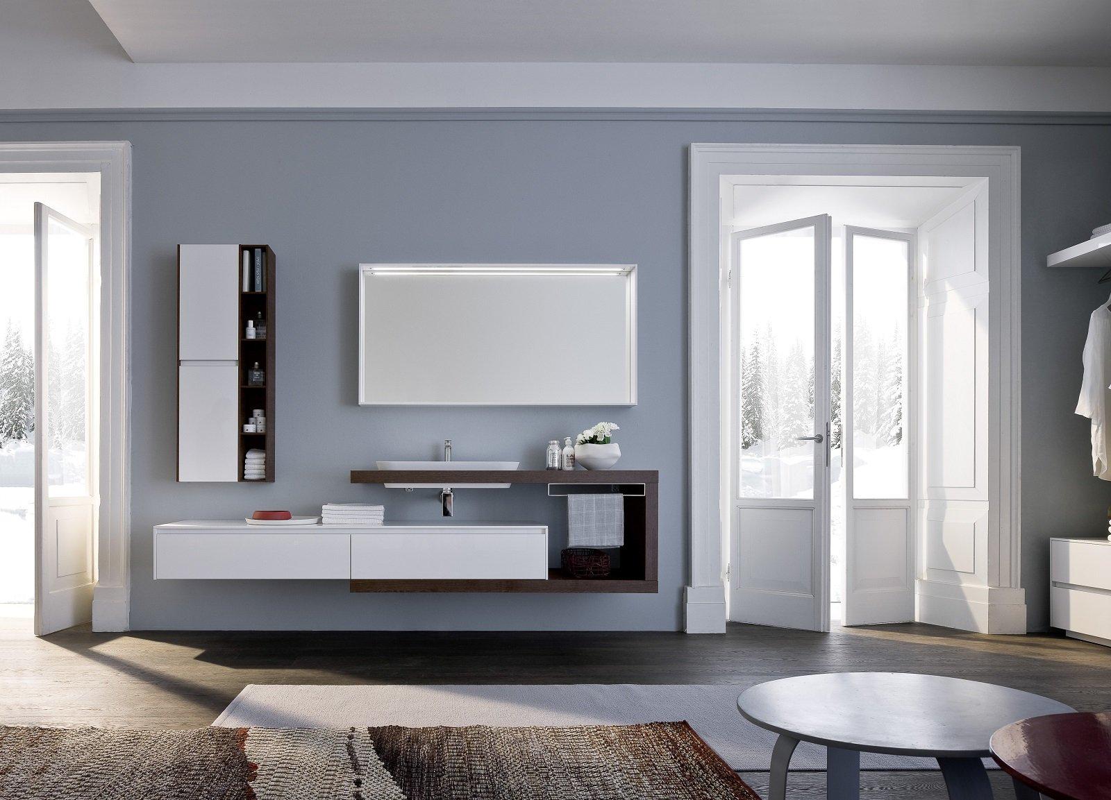 Mensole e piani d 39 appoggio per il lavabo cose di casa for Moderni piani di casa toscani