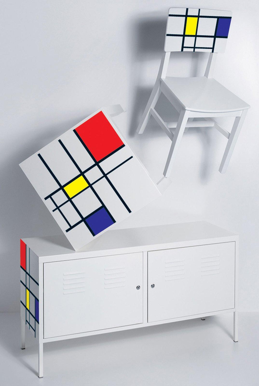 arredare in stile mondrian cose di casa. Black Bedroom Furniture Sets. Home Design Ideas