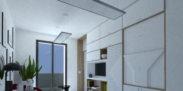 Da monolocale a bilocale: nell'open space, separare soggiorno e camera