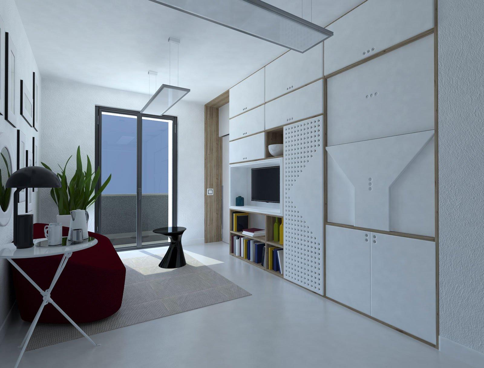 Idee Per Dividere Zona Giorno da monolocale a bilocale: nell'open space, separare