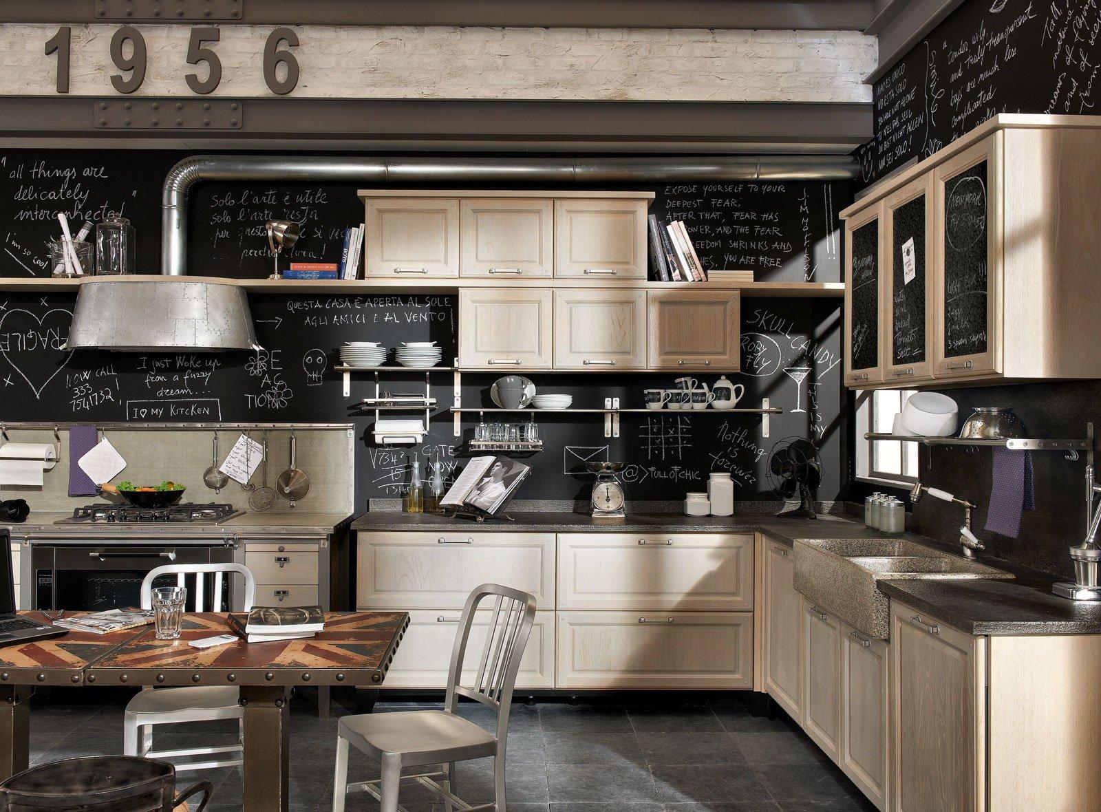 Cucine in legno tradizionali country o moderne cose di - Cucine moderne a parete ...