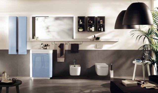 È in metallo la mensola della collezione componibile Idro di Scavolini Bathrooms nella finitura bianco opaco. Il modello in foto ha una lunghezza di 300 cm. Prezzo su richiesta. www.scavolini.com