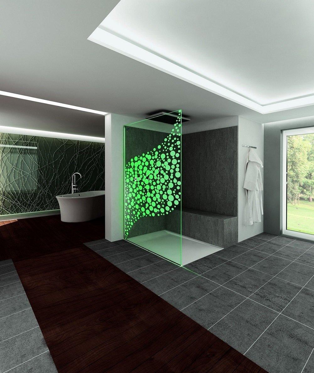 Docce walk in senza pannello di chiusura cose di casa - Illuminazione box doccia ...