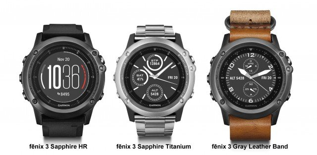 GARMIN sportwatch Fenix3 Sapphire