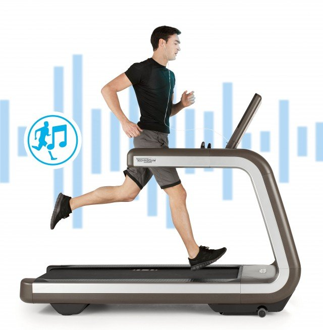 TECHNOGYM tapis roulant music interactive treadmill