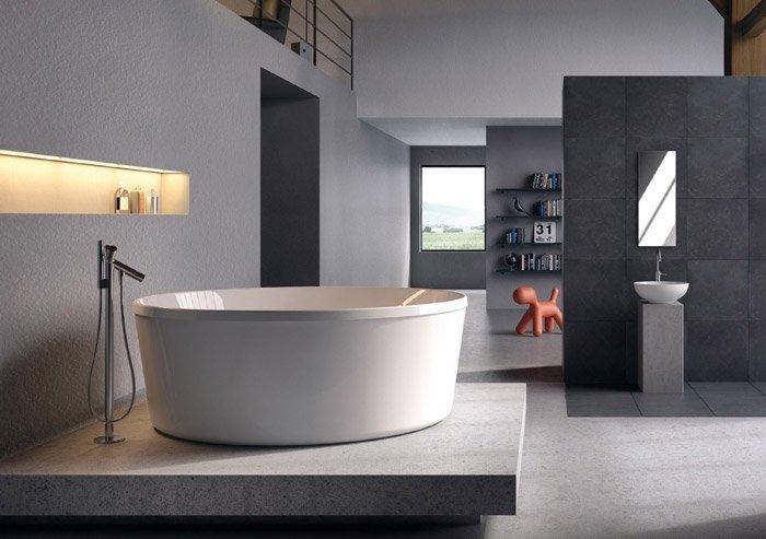 Bagno in camera da letto a vista design casa creativa e for Piani cabina personalizzati