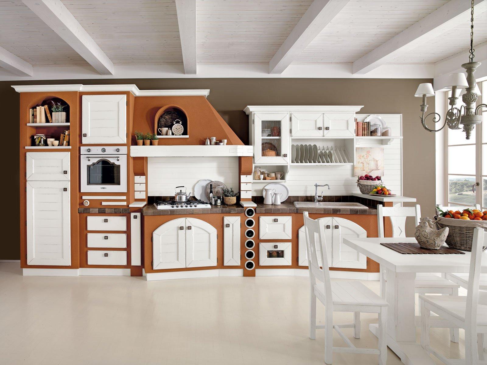 Cucine effetto muratura vera o finta cose di casa for Cucine in murature