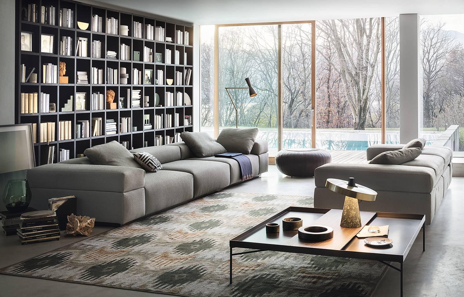 Scegliere il divano comfort e personalizzazione in primo for Parete attrezzata con divano