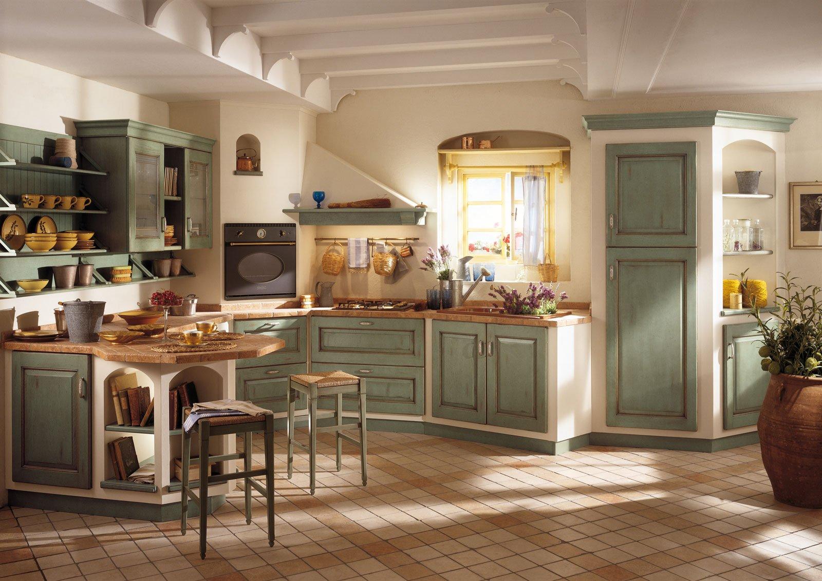 Cucine effetto muratura vera o finta cose di casa - Cucine rustiche foto ...