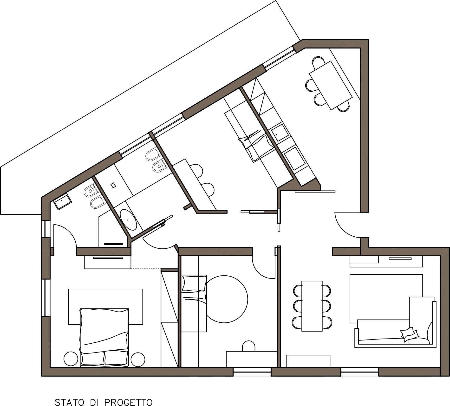 soggiorno pranzo dwg idee per il design della casa