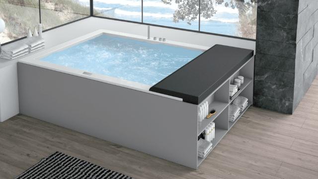 Vasche a incasso o free standing isole di benessere cose di casa - Vasca da bagno grigia ...