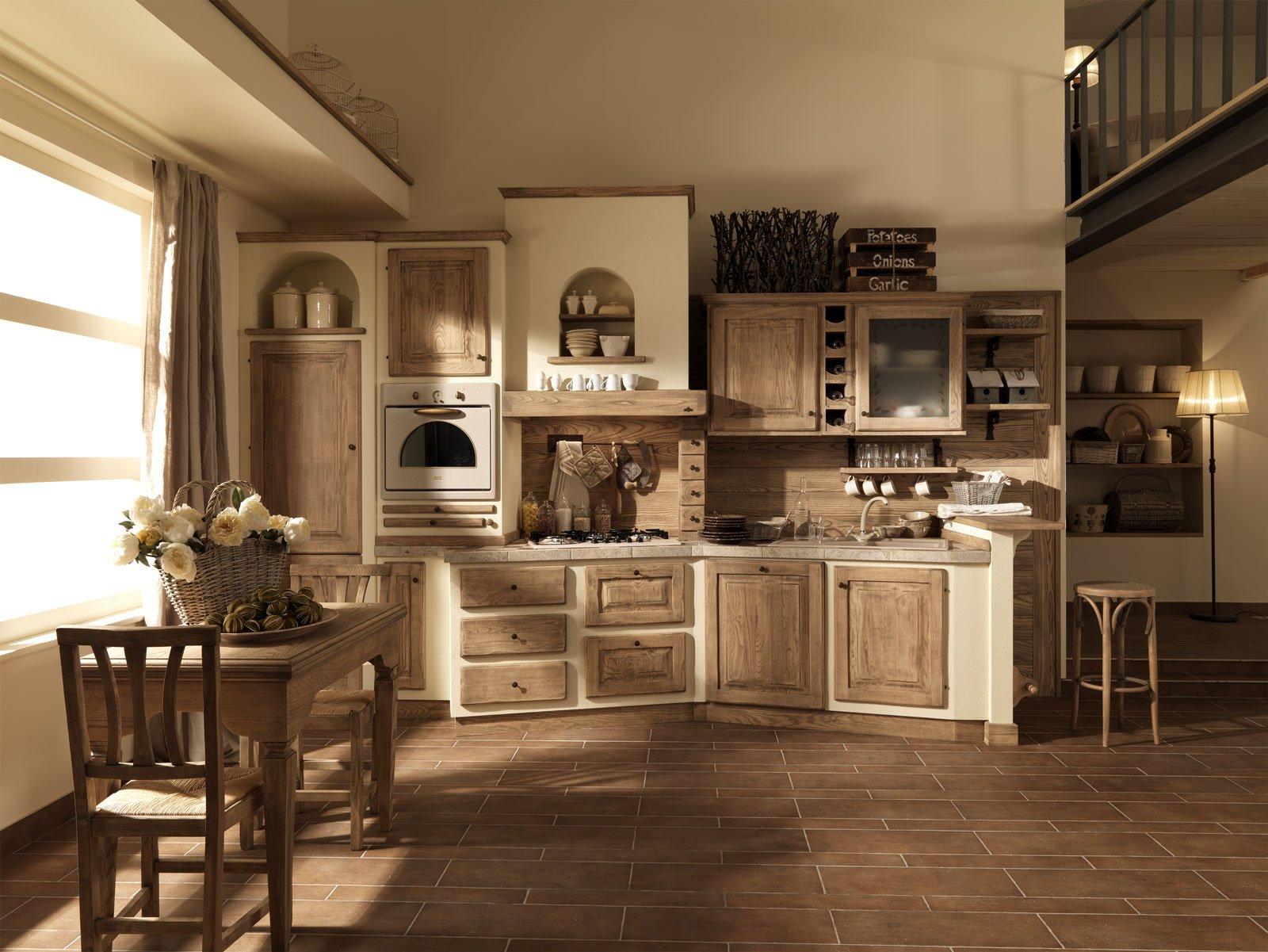 Cucine effetto muratura vera o finta cose di casa for Piani di casa aperti con grandi cucine