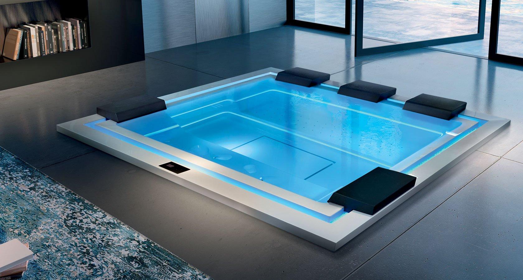 Vasche a incasso o free standing isole di benessere for Costo per costruire una casa piscina con bagno