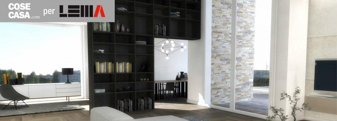 """Progetto soggiorno: soluzioni Lema perfette per spazi """"difficili"""" - Cose di Casa"""