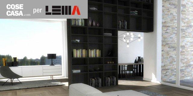 """Progetto soggiorno: soluzioni Lema perfette per spazi """"difficili"""""""
