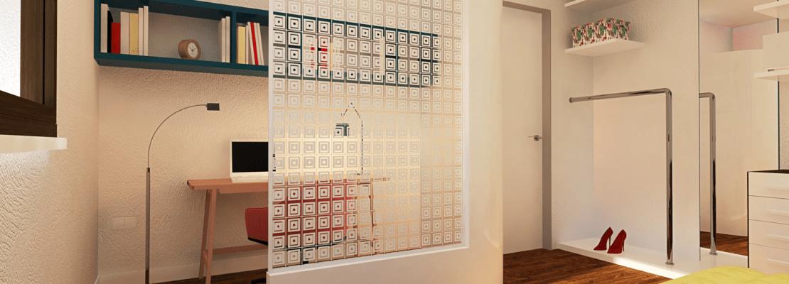 Ricavare lo studio in camera creando un angolo separato un progetto in 3d cose di casa - Angolo studio in camera da letto ...