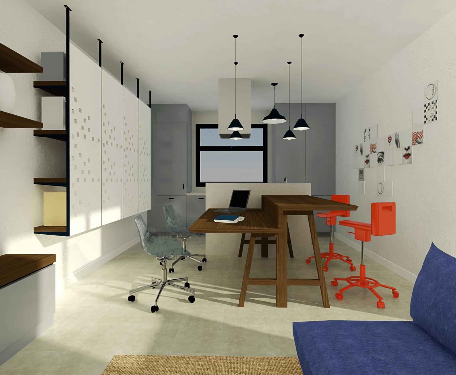 in soggiorno la zona studio integrata nel tavolo cose di On zona studio in soggiorno