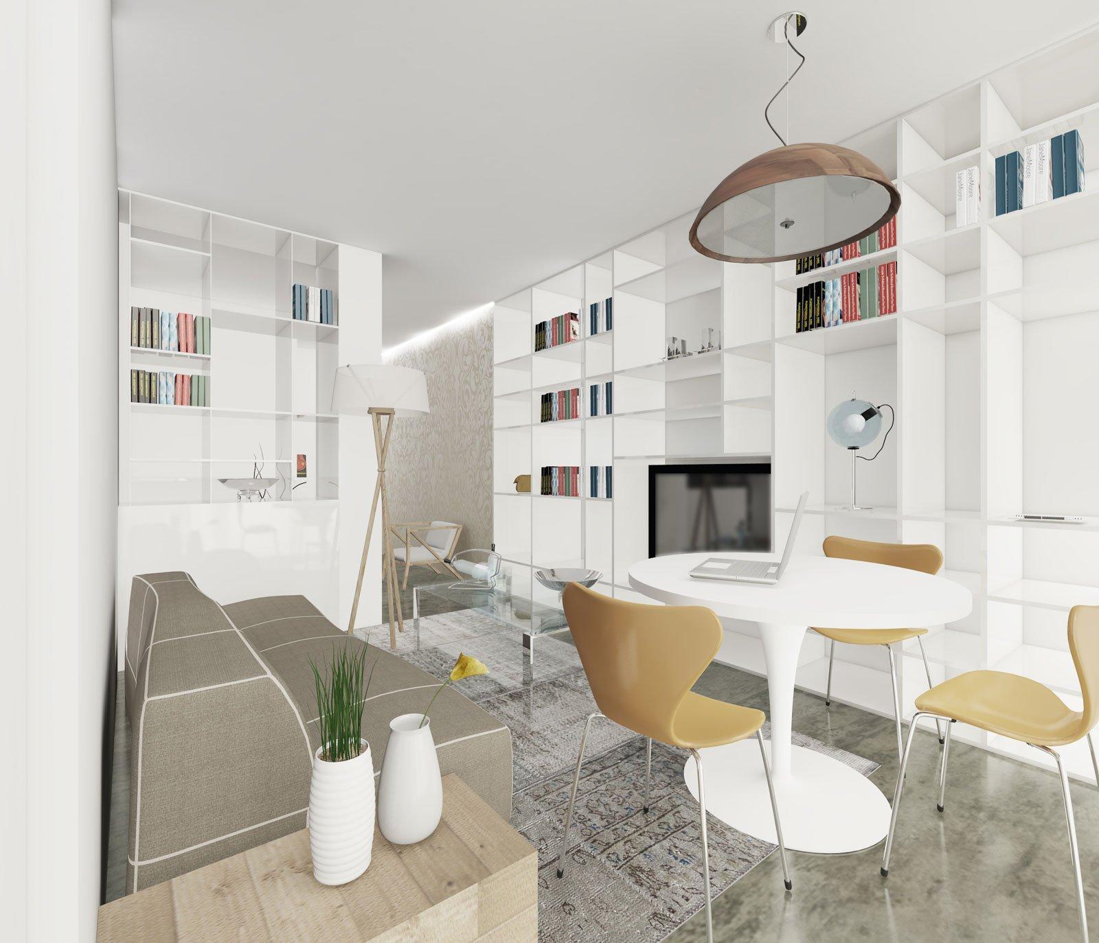 Arredare il soggiorno con un pilastro nel mezzo cose di casa for Parete attrezzata con divano