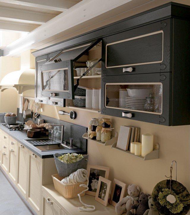 Cucine vani a vista coi pensili in vetro cose di casa - Cucina grigio scuro ...