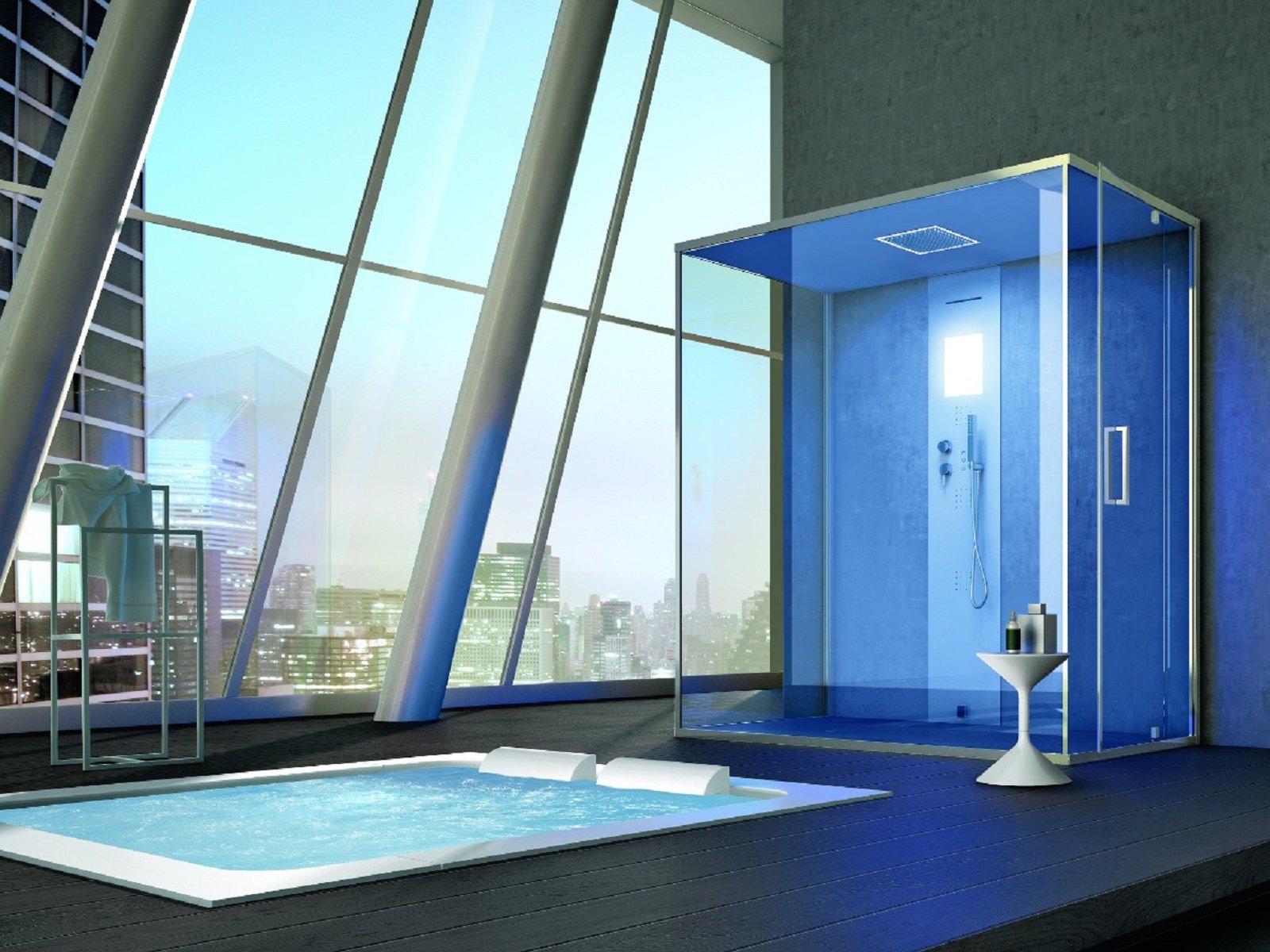 dotata di generatore di vapore per bagno turco la colonna rigenera 200 di hafro incassata