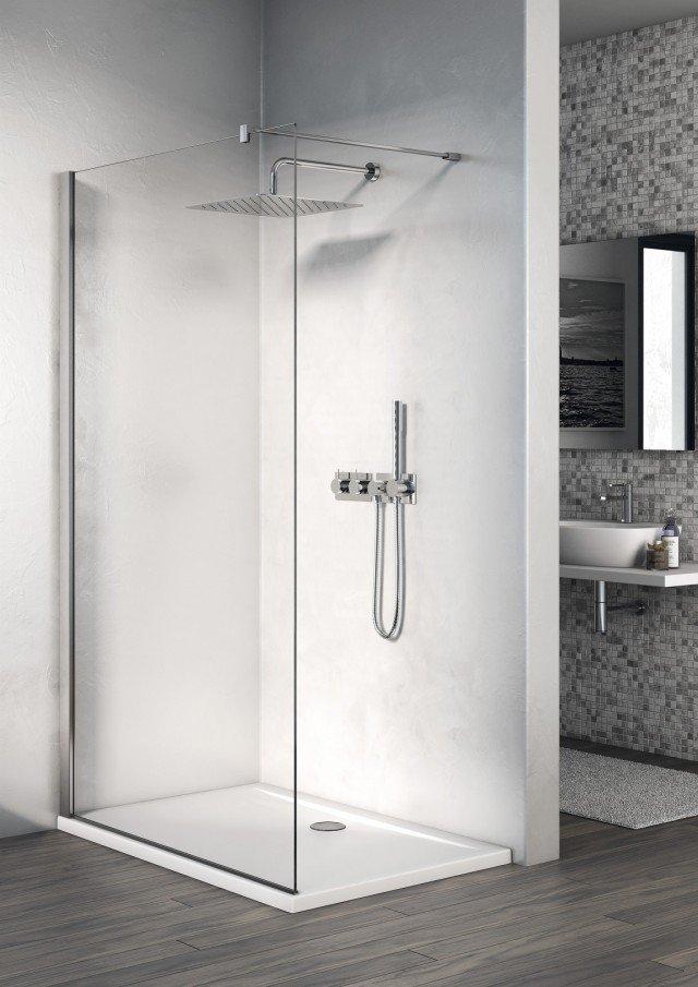 Box doccia rettangolari eleganza minimale per il bagno cose di casa - Doccia senza piatto doccia ...
