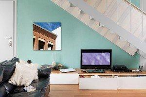 Incastri magici per una casa su tre livelli di 40, 46 e 18 mq