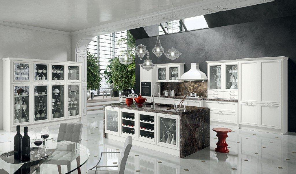 Cucine: vani a vista coi pensili in vetro - Cose di Casa