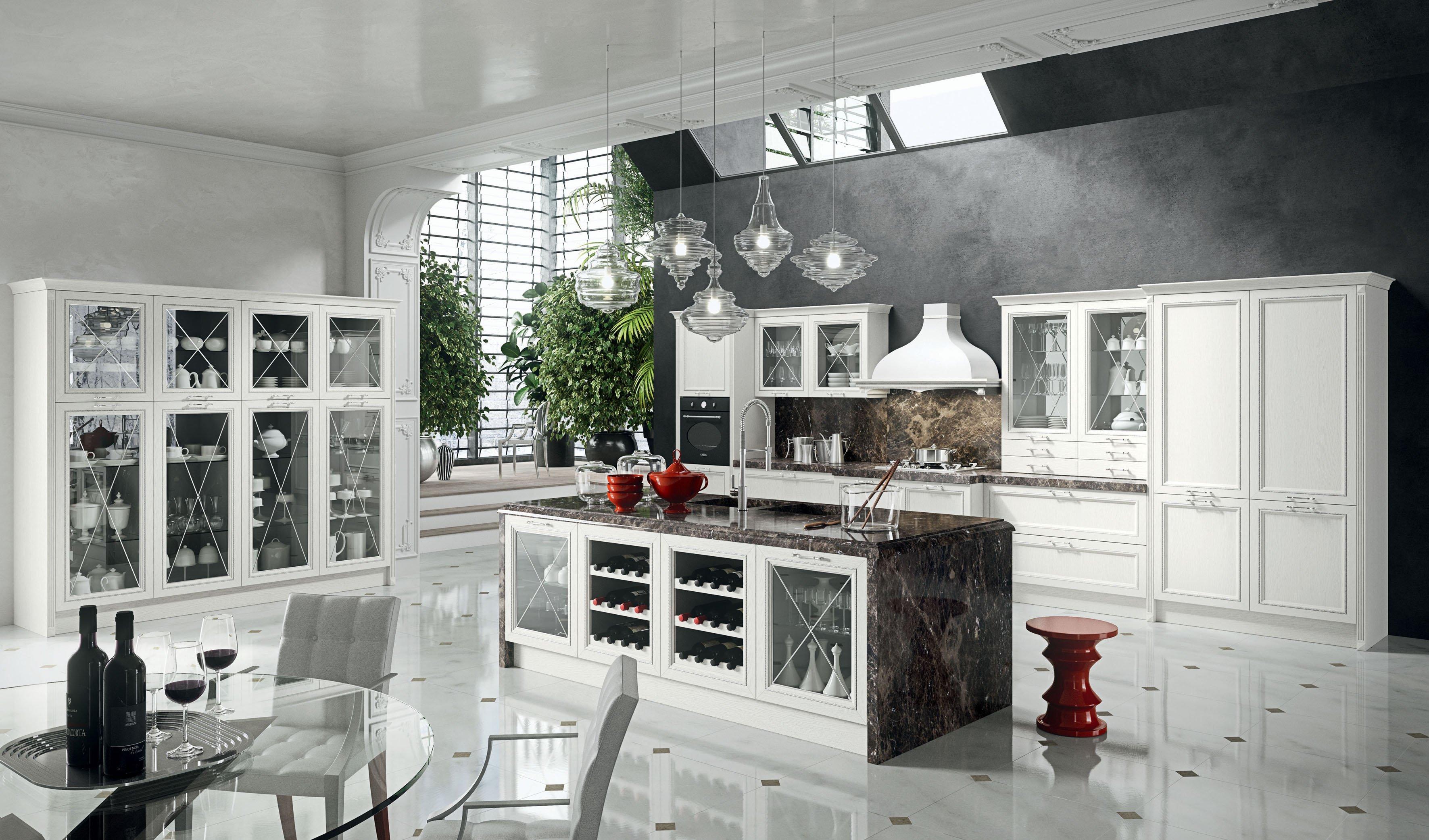 Cucine Scavolini In Legno Massello : Cucine vani a vista coi pensili in vetro cose di casa