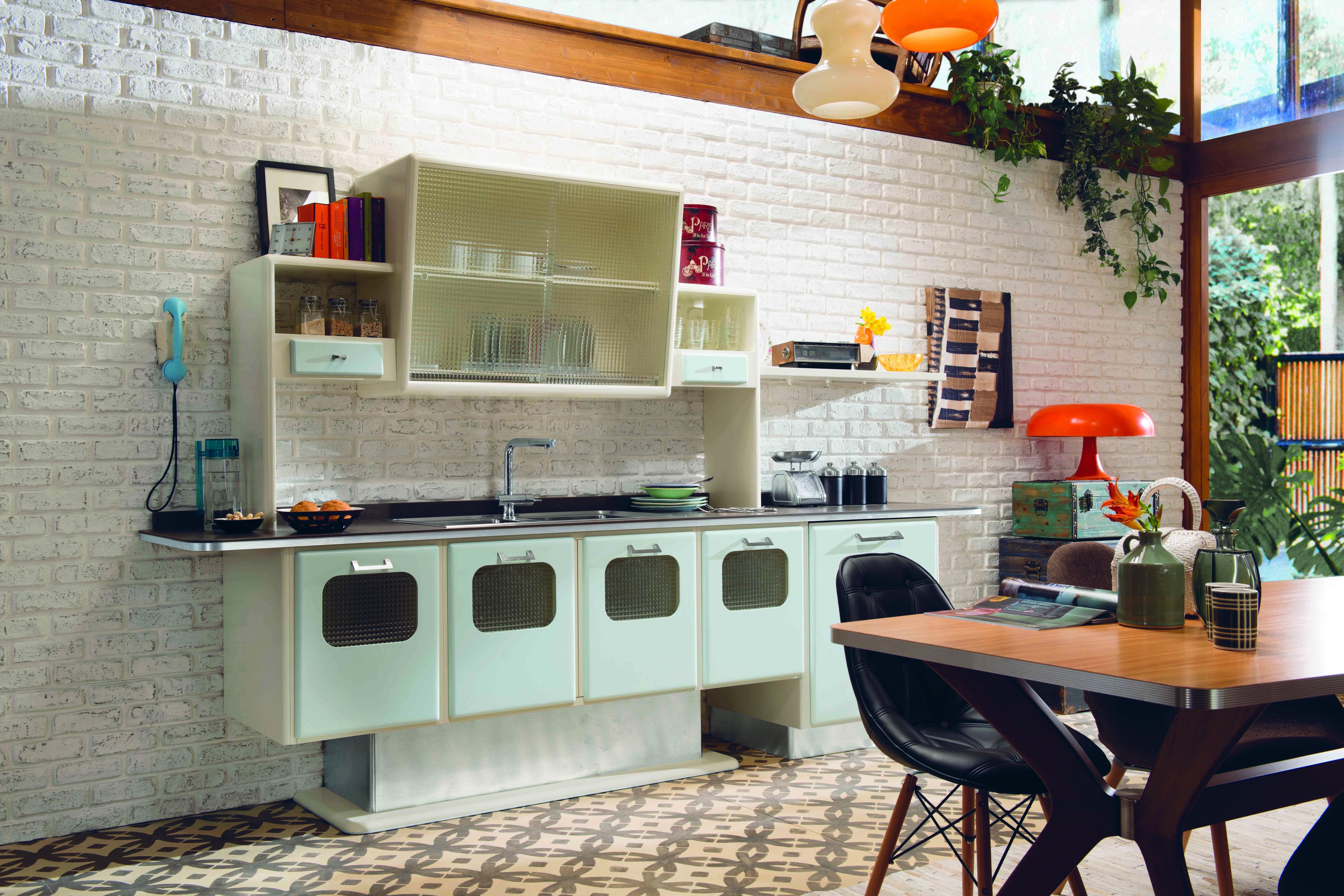 Cucine vani a vista coi pensili in vetro cose di casa - Cucine a vista ...