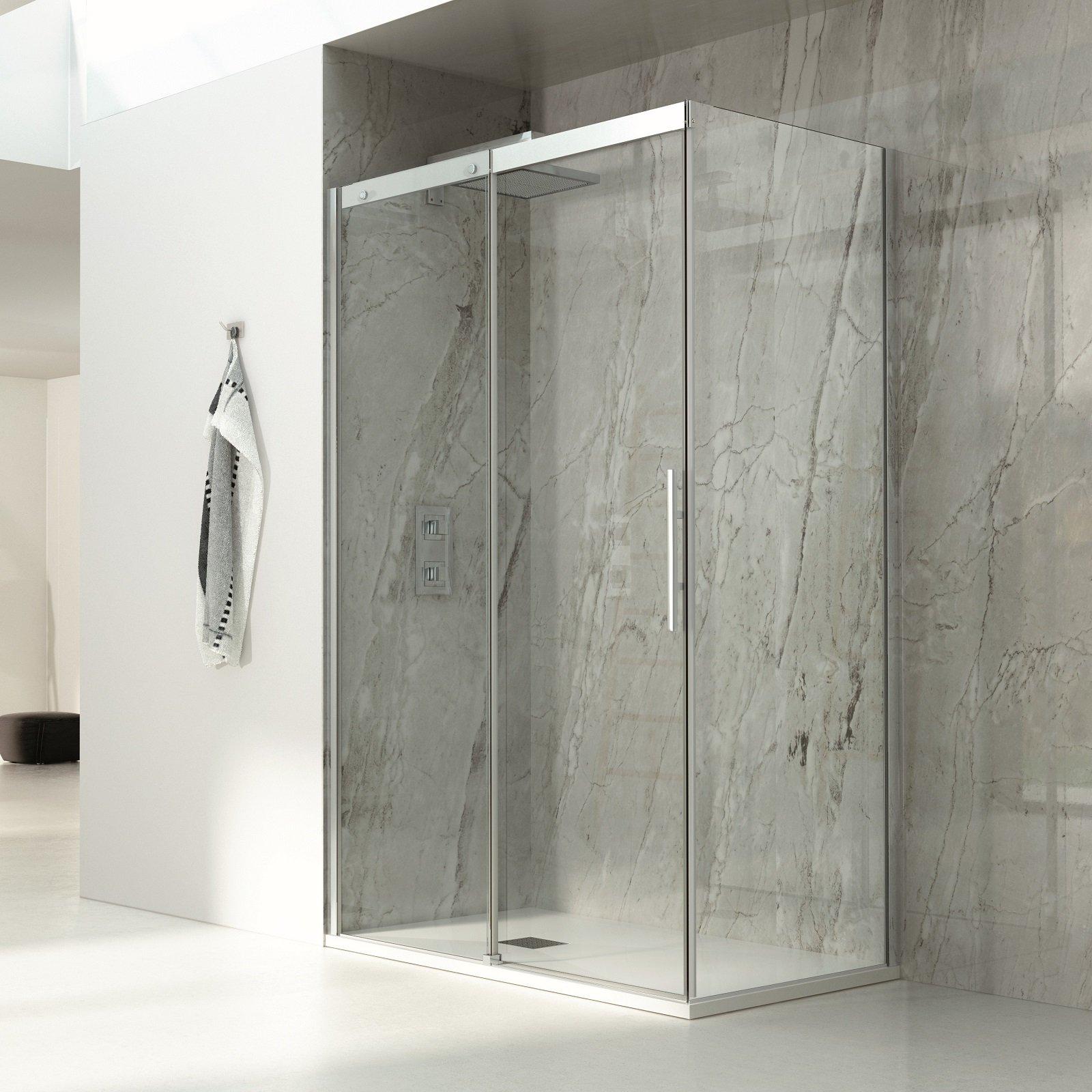 Box doccia rettangolari eleganza minimale per il bagno for Doccia rettangolare