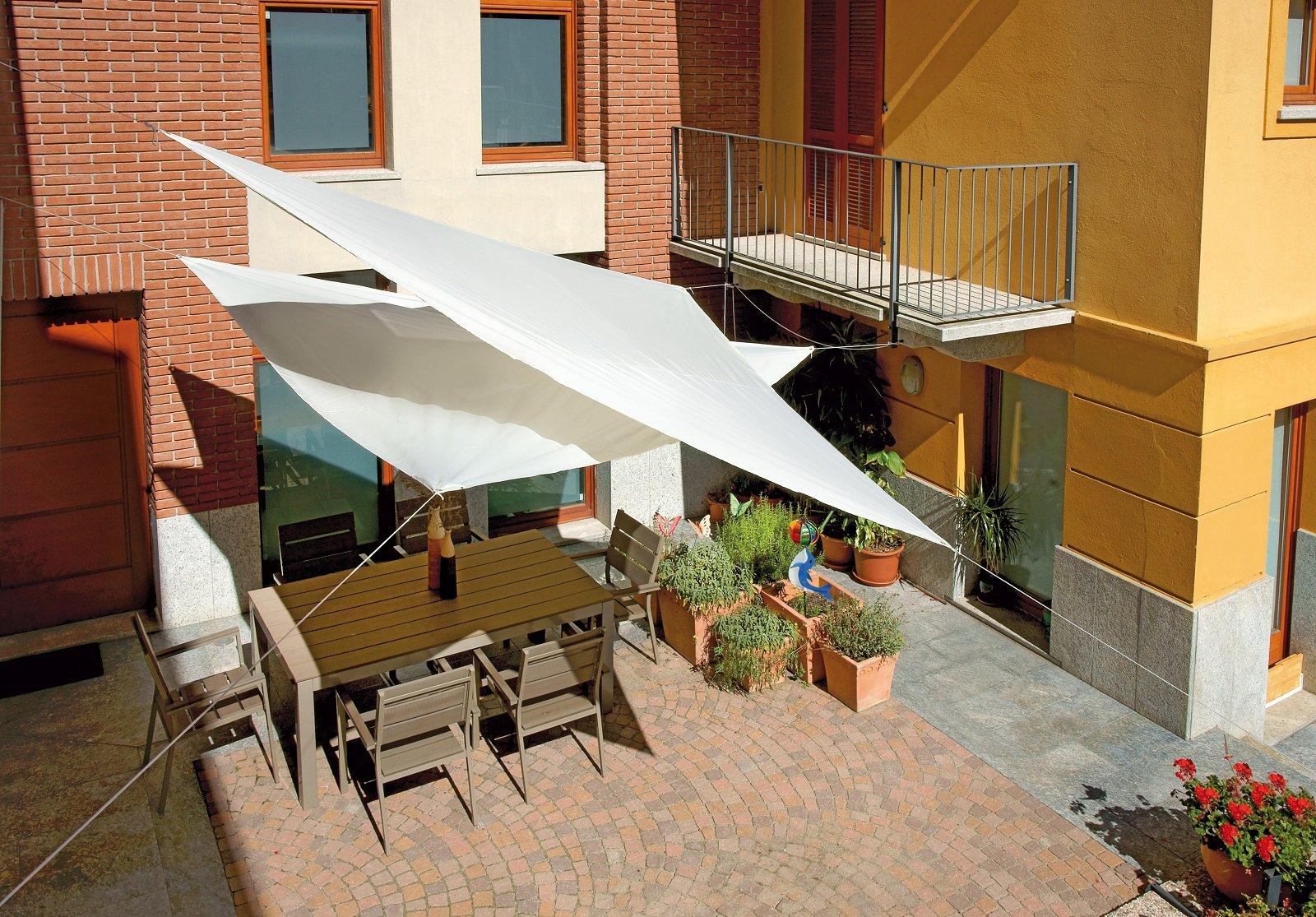 Tende da sole per una casa che si amplia all 39 esterno for Tenda vela ikea