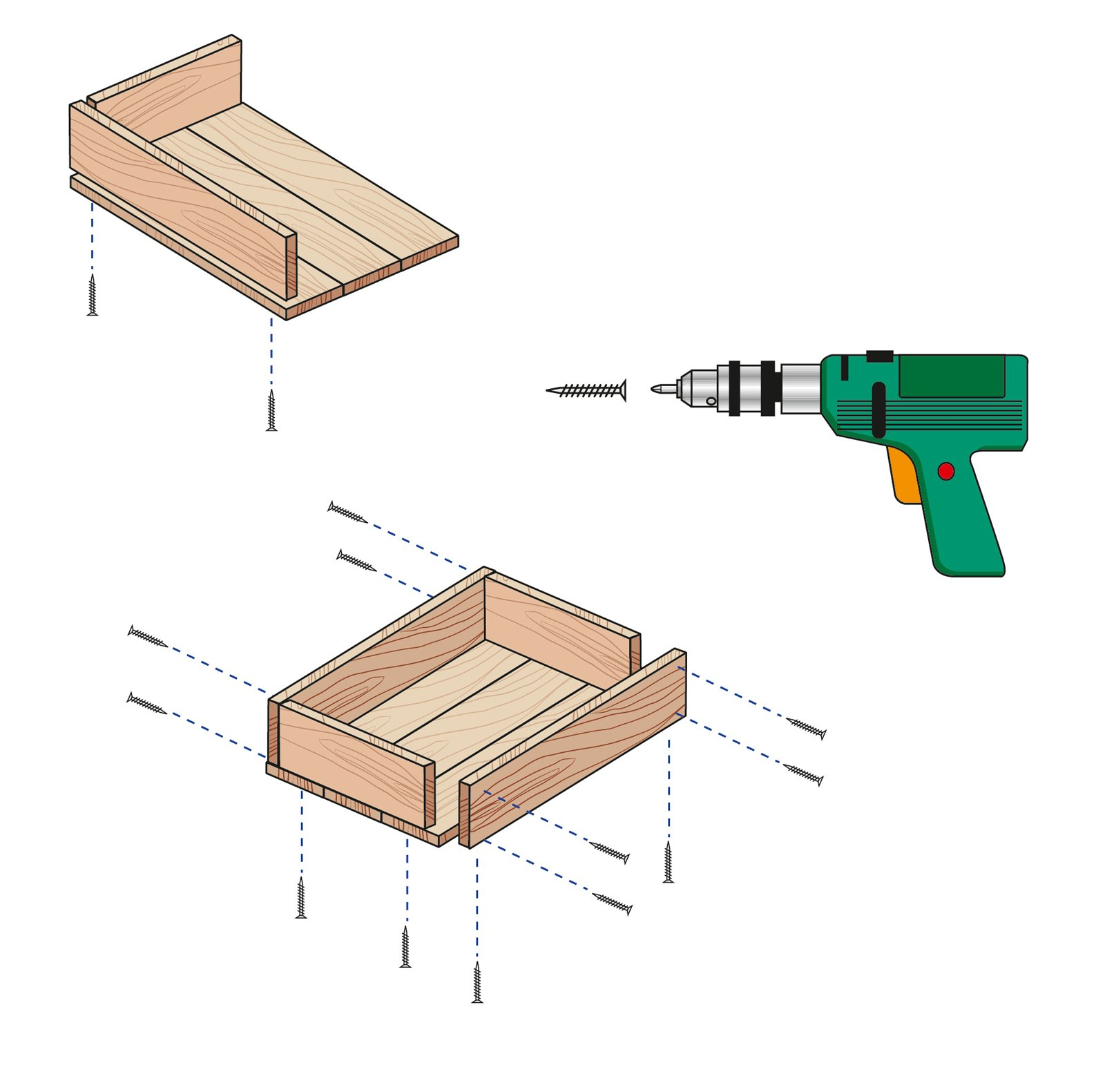 La cassetta in legno fai da te da usare come portavasi - Portavasi fai da te ...