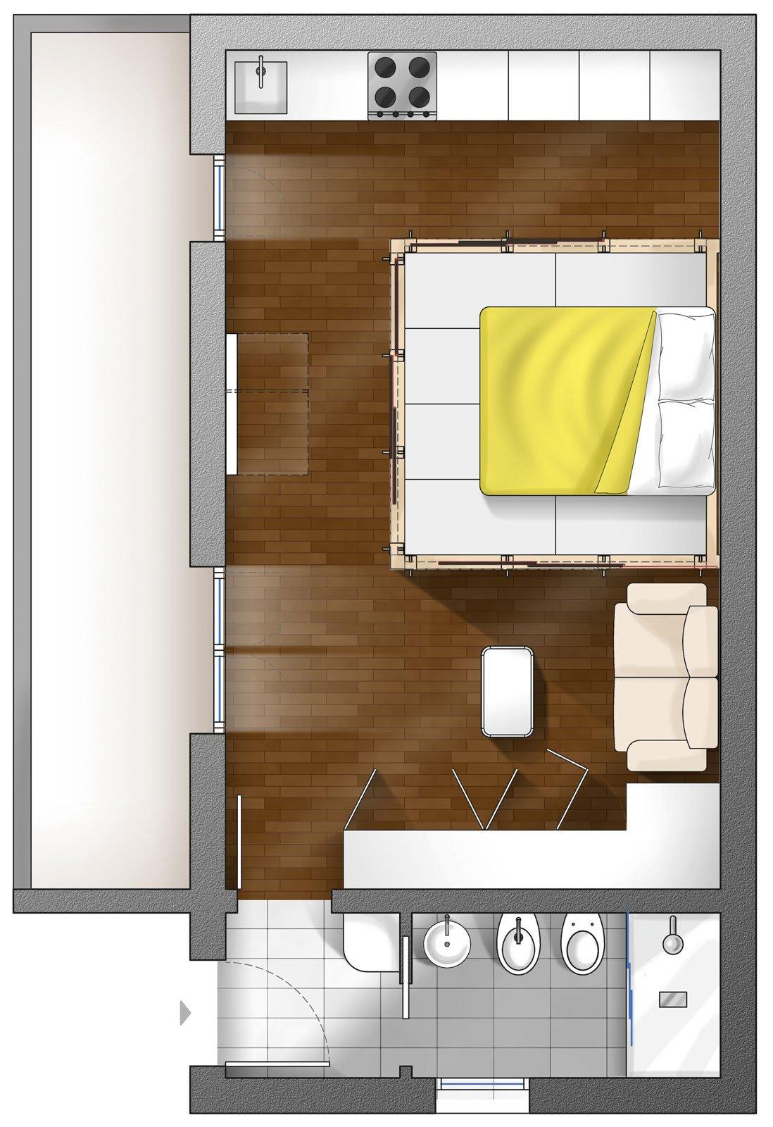 Come ricavo una zona notte schermata guarda il progetto for Progetto 3d cucina