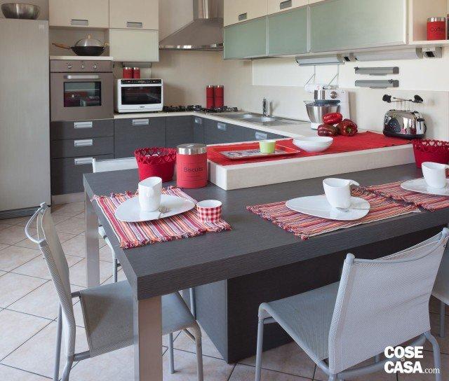 63 mq sottotetto eclettico cose di casa - Cucine a ferro di cavallo ...