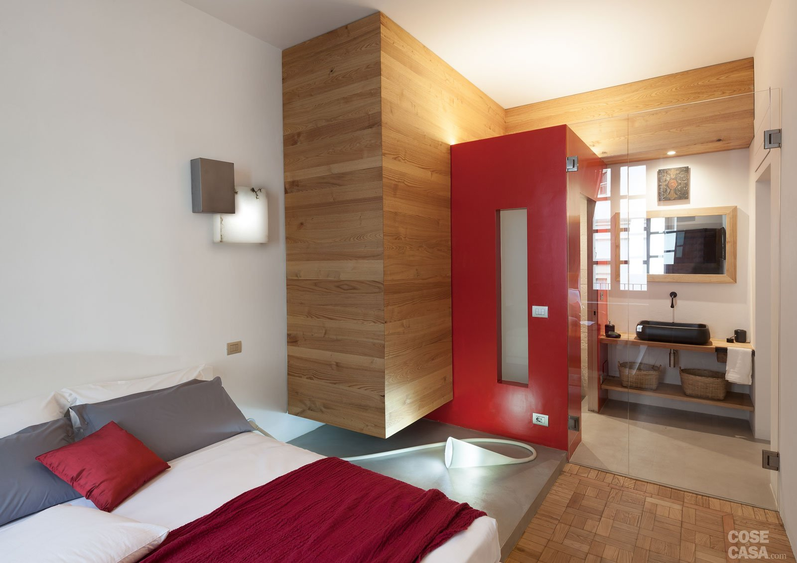 Bagno In Camera Con Vetro : 140 mq: volumi geometrici per dividere gli spazi cose di casa