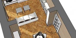 Soluzioni per il soggiorno moderno, in ambiente di impianto classico