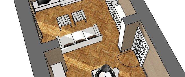 Soluzioni per il soggiorno moderno, in ambiente di impianto classico ...