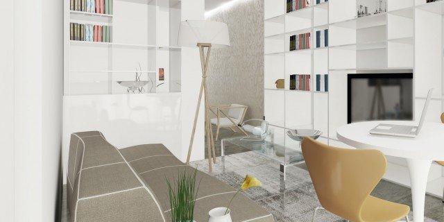 Arredare il soggiorno con un pilastro nel mezzo cose di casa for Progettare stanza