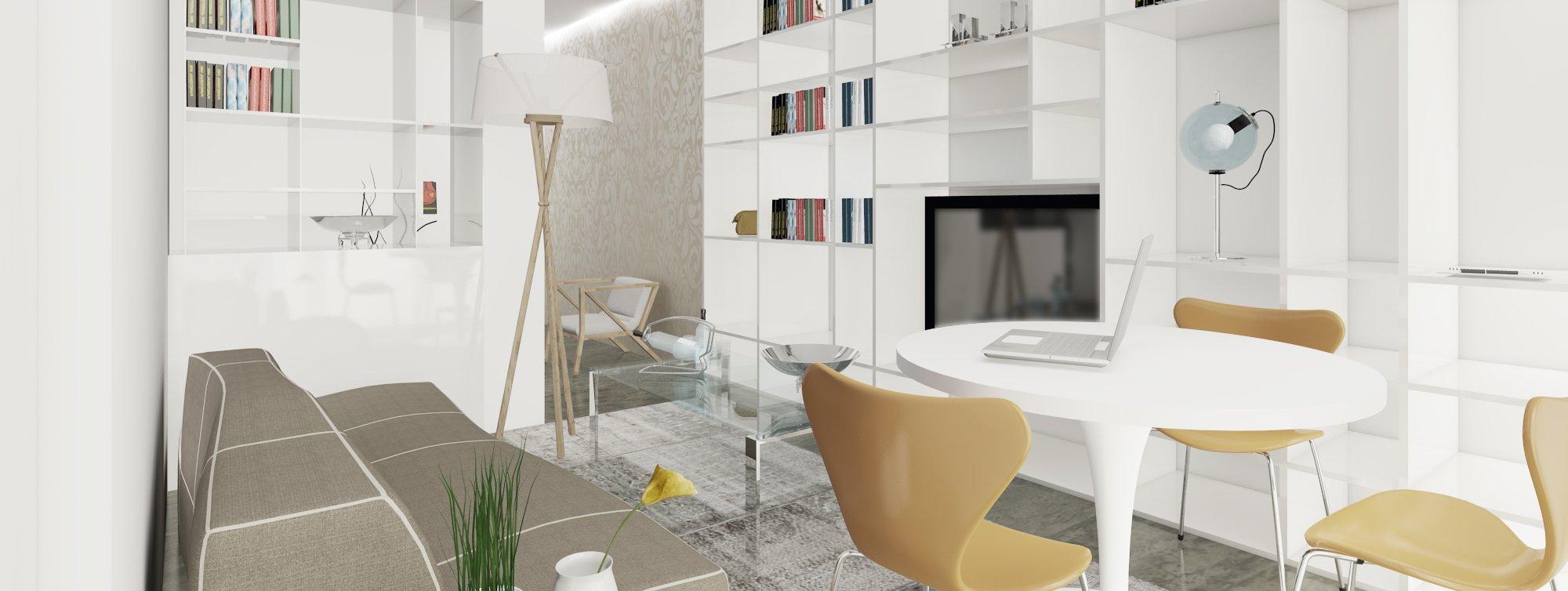 Arredare il soggiorno con un pilastro nel mezzo cose di casa for Piani di casa con piscina nel mezzo