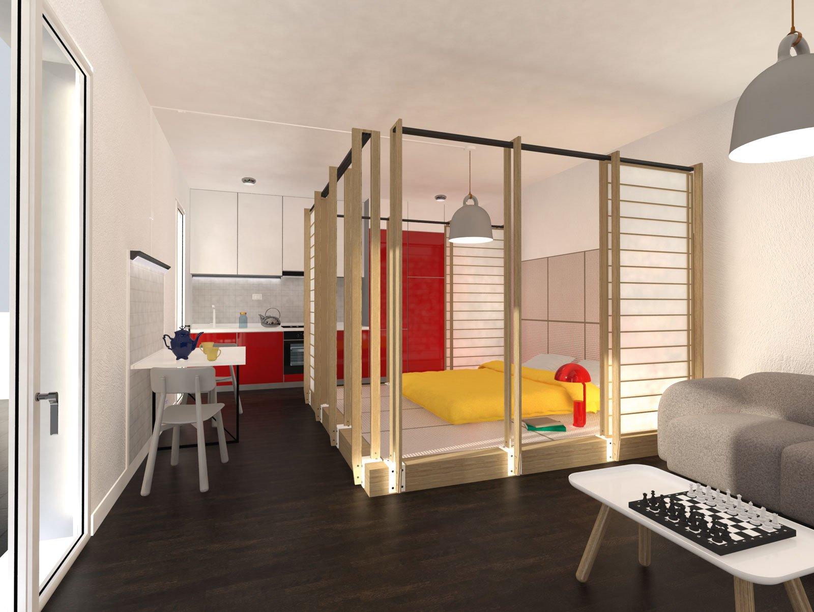 Come ricavo una zona notte schermata guarda il progetto for Come progettare un appartamento con una camera da letto